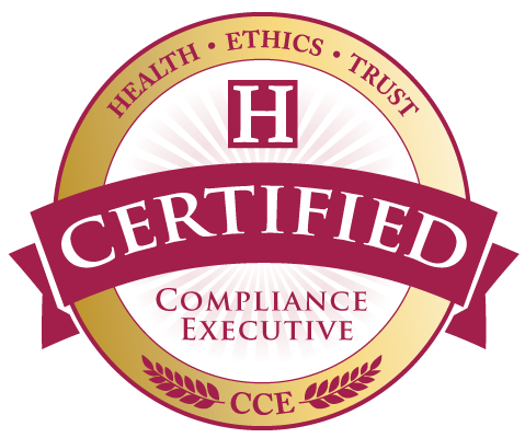CCE Healthcare Compliance Certification seal of the Health Ethics Trust.
