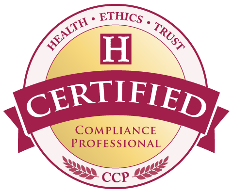 CCP Healthcare Compliance Certification seal of the Health Ethics Trust.
