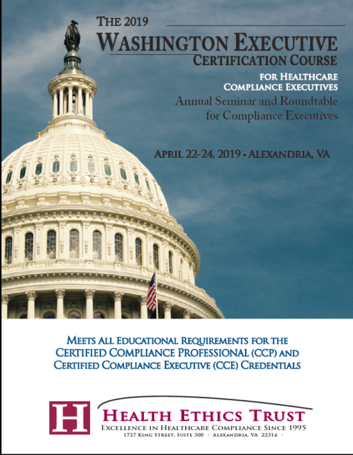 Washington Executive Certification Course for Healthcare Compliance Executives