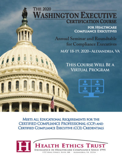 Washington Executive Certification Course 2020
