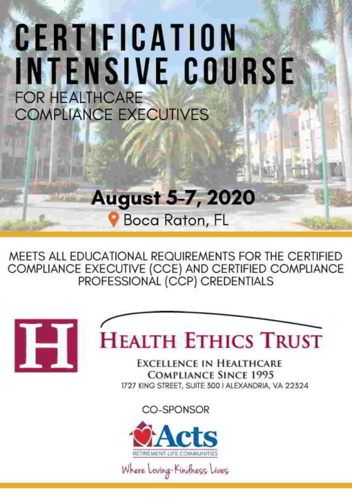 Compliance Certification Intensive Course 2020