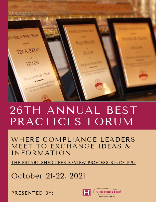 Health Ethics Trust: Best Compliance Practices Forum for Oct 2021 Brochure-thumbnail