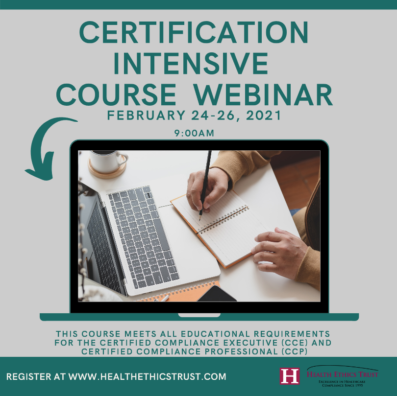 Health Ethics Trust: Certification Intensive Course for Feb 2021 Brochure