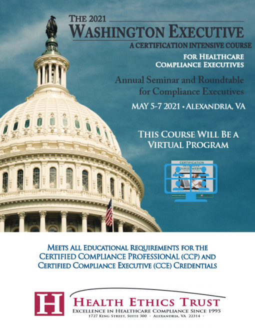 Health Ethics Trust: Washington Executive Course for May 2021 Brochure-thumbnail